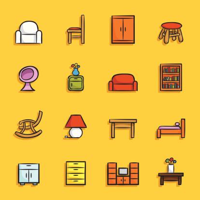 Cartoon Icons - Furniture