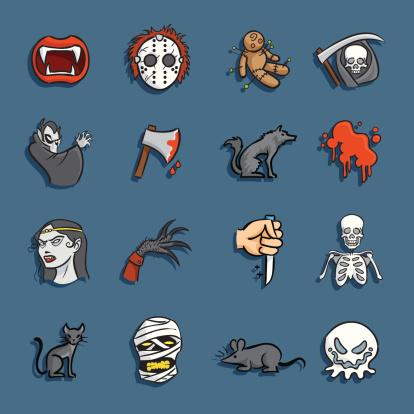 Cartoon Icons - Horror