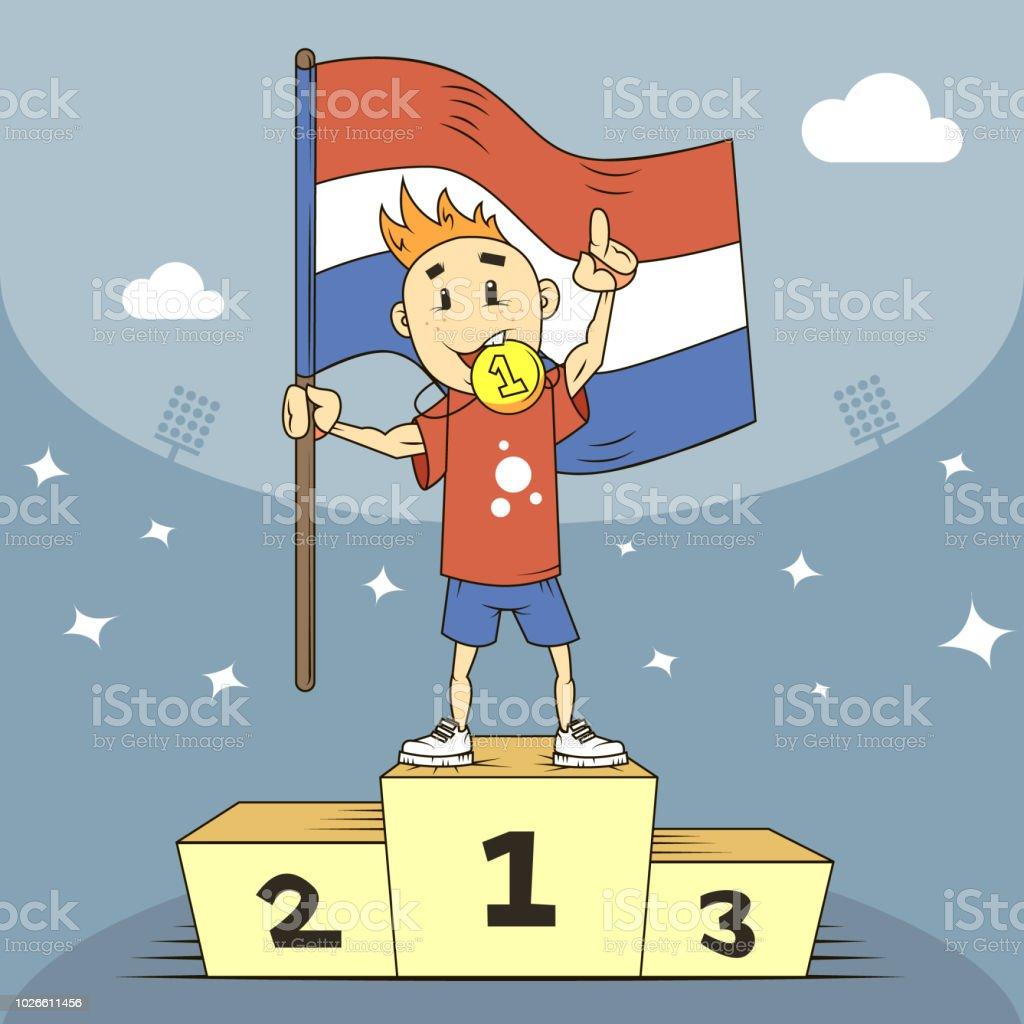 ilustração de campeão de ilustração dos desenhos animados dos países