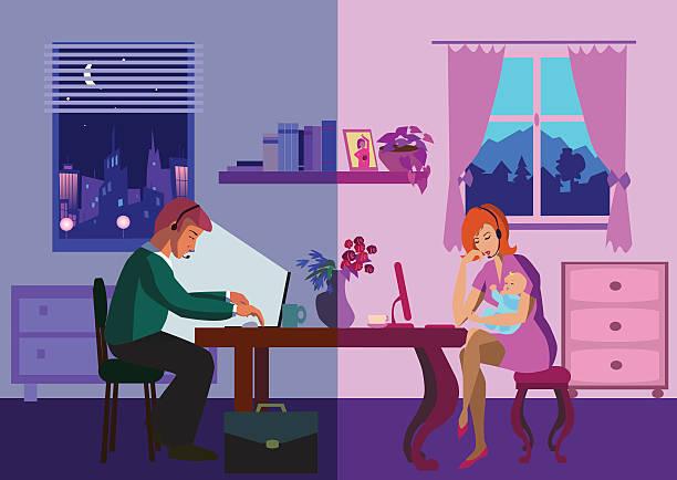 のインターネット - オフィス外勤務点のイラスト素材/クリップアート素材/マンガ素材/アイコン素材