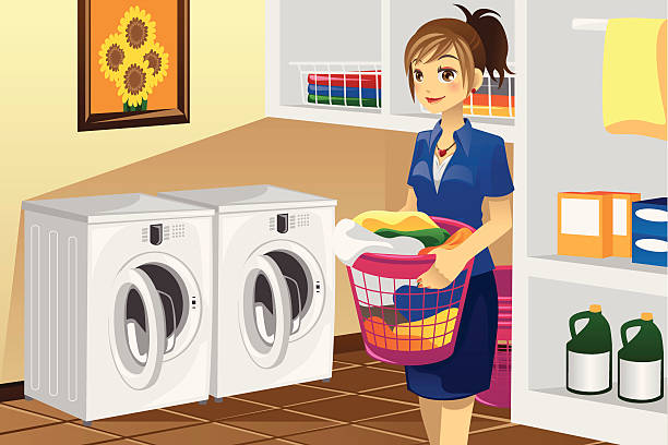 Best Laundry Room Illustrations, Royalty-Free Vector ...