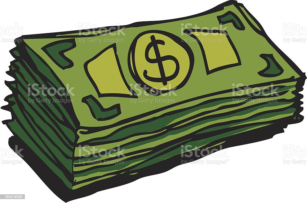 Cartoon illustration of a pile of green dollar notes royalty-free cartoon illustration of a pile of green dollar notes stock vector art & more images of bringing home the bacon
