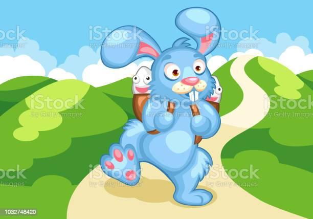 Cartoon illustration of a running easter bunny with eggs in his vector id1032748420?b=1&k=6&m=1032748420&s=612x612&h=mkdrl  tl nfnhwkd c7cdymdrsw9t9yrit ooxioui=