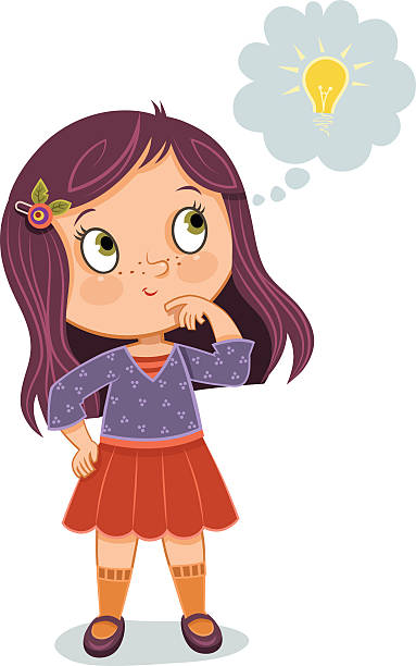 Royalty Free Girl Thinking Clip Art, Vector Images ...