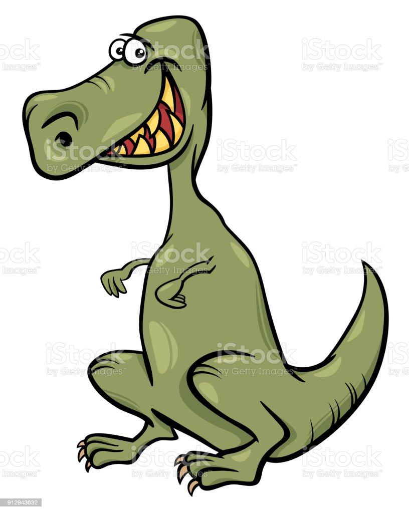 Dinozor Karakter Karikatür çizimi Stok Vektör Sanatı Animasyon