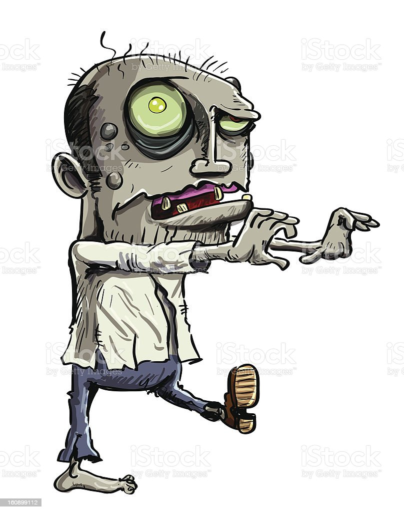 Cartoon illustration of green zombie royalty-free cartoon illustration of green zombie stock vector art & more images of adult