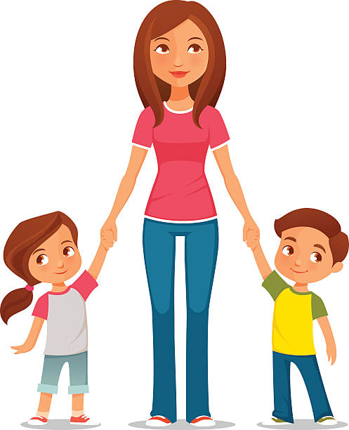 Royalty Free Young Mother Clip Art, Vector Images