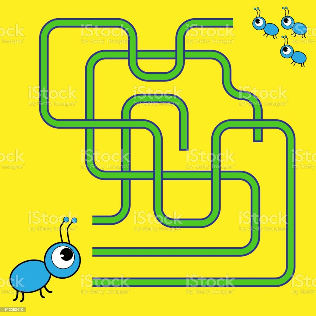 Cartoon Illustration Of Paths Or Maze Puzzle Activity Game Kids Learning Games Collection Stock Illustration Download Image Now Istock