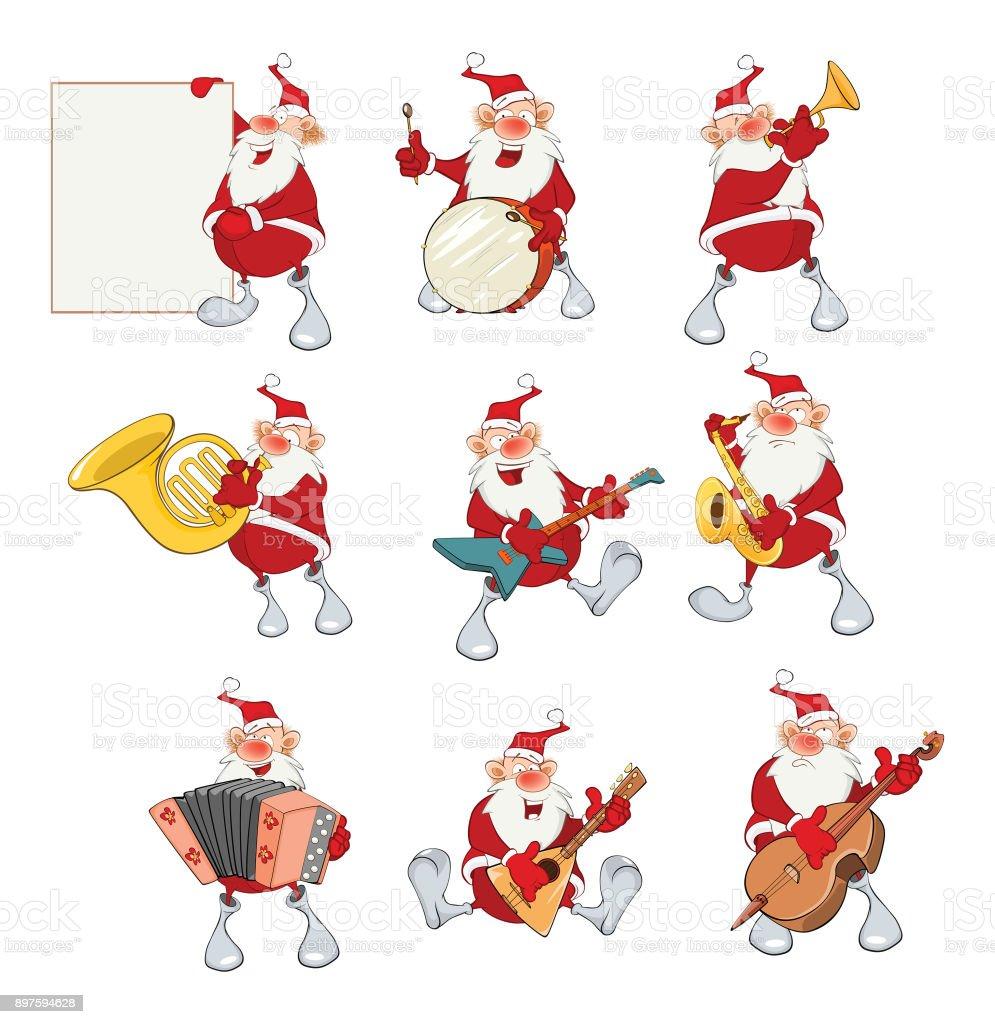 Cartoon Illustration of Santa Claus for you Design Cartoon Character vector art illustration