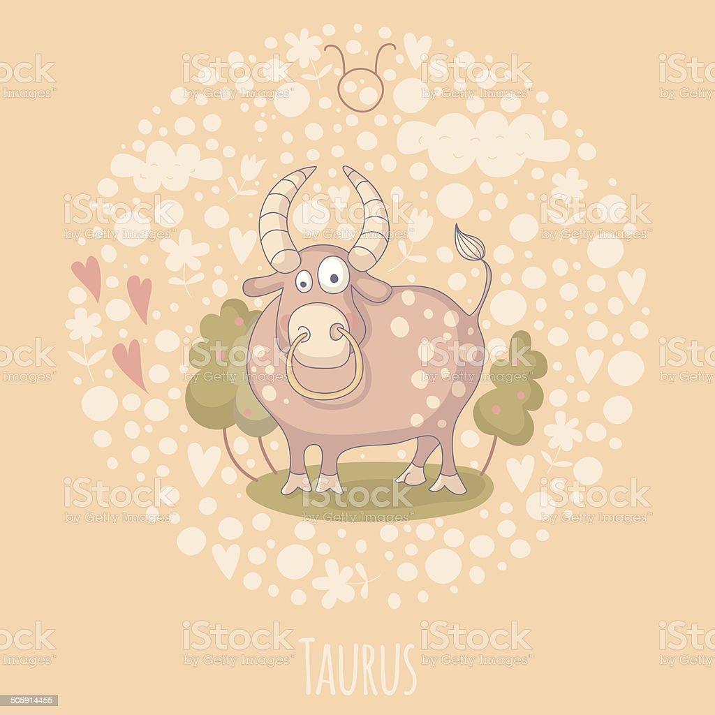 カットイラスト、イラストレーションのブル(Taurus ) ベクターアートイラスト