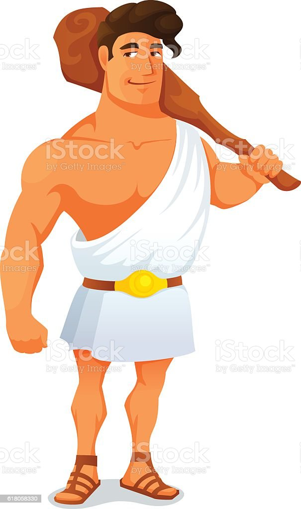 Cartoon Illustration Of The Greek Hero Hercules Stock -4660