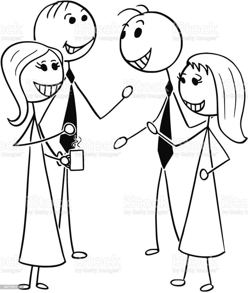 Ilustración De Ilustración De Dibujos Animados De Dos Hombres Y