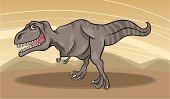 cartoon illustration of tyrannosaurus dinosaur