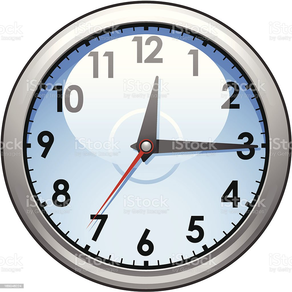 A Cartoon Image Of A Clock On A White Background Stock Vector Art