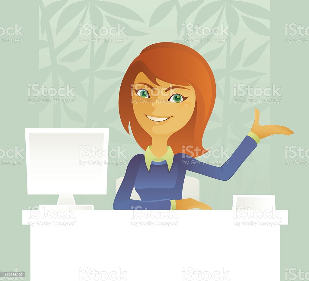 Cartoon image of a receptionist royalty-free cartoon image of a receptionist stock vector art & more images of adult