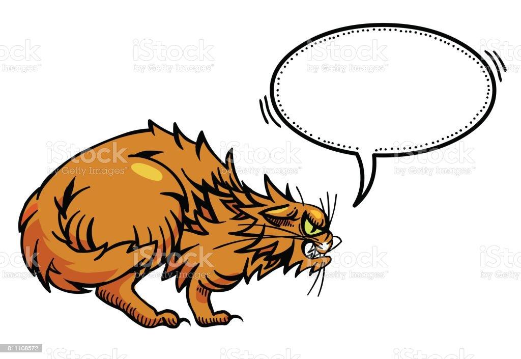 Vetores De Imagem Dos Desenhos Animados Do Gato Bravo E Mais