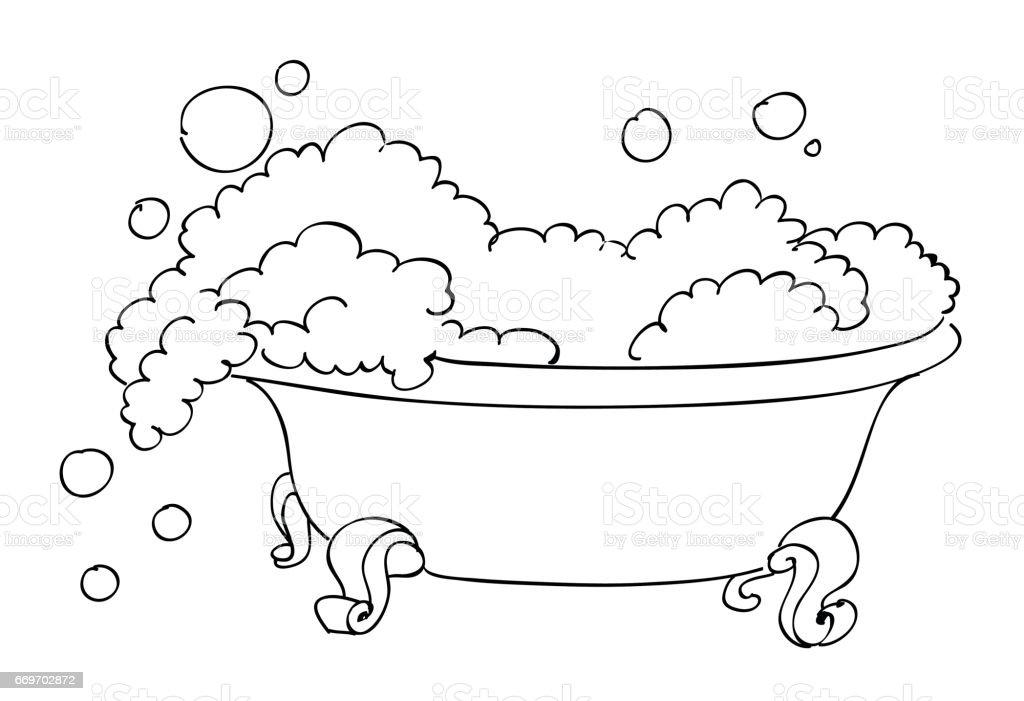 bilder badewanne cartoon