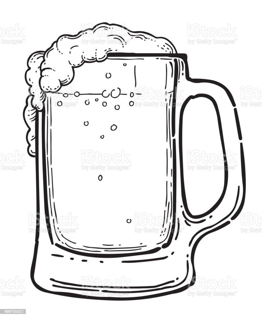 Image de dessin anim de bi re en verre vecteurs libres de - Dessin de verre ...