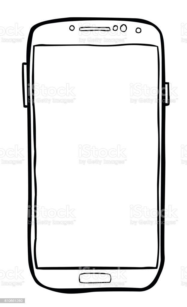 image de dessin anim de lic ne de t l phone portable pictogramme de smartphone cliparts. Black Bedroom Furniture Sets. Home Design Ideas