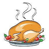 Cartoon image of cooked turkey