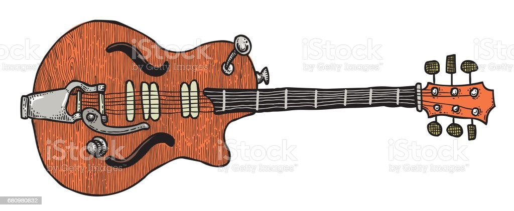 Cartoon image of electric guitar royalty-free cartoon image of electric guitar stock vector art & more images of art and craft