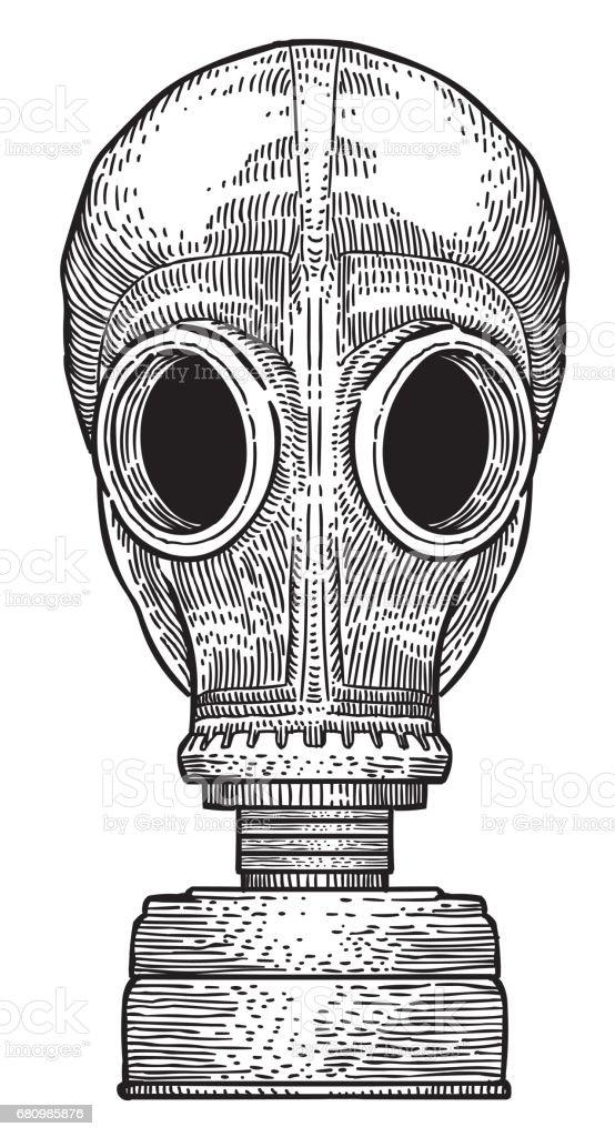 Cartoon image of gas mask royalty-free cartoon image of gas mask stock vector art & more images of art and craft