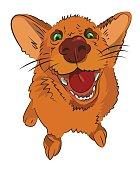 Cartoon image of happy dog
