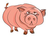 Cartoon image of huge pig
