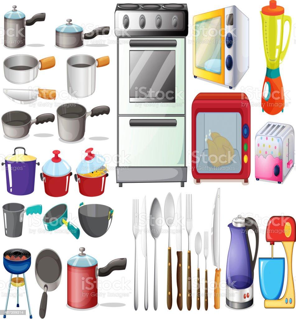 Oggetti Di Cucina - Immagini vettoriali stock e altre immagini di ...