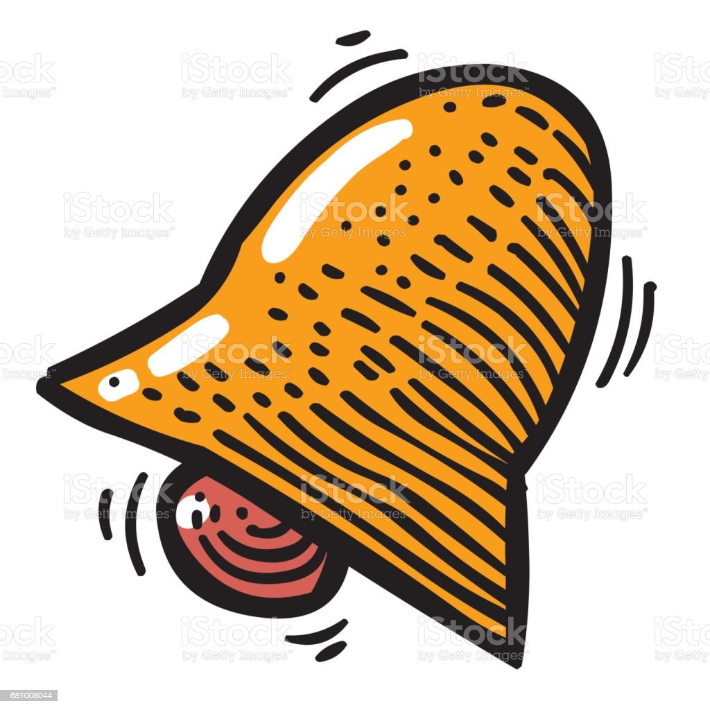 Cartoon image of Notification Icon. Bell symbol royalty-free cartoon image of notification icon bell symbol stock vector art & more images of alarm