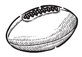 Cartoon image of Rugby ball