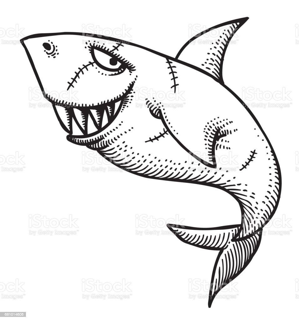 Cartoon image of shark royalty-free cartoon image of shark stock vector art & more images of animal