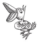 Cartoon image of singing bird