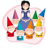 snow white and teh seven dwarves.