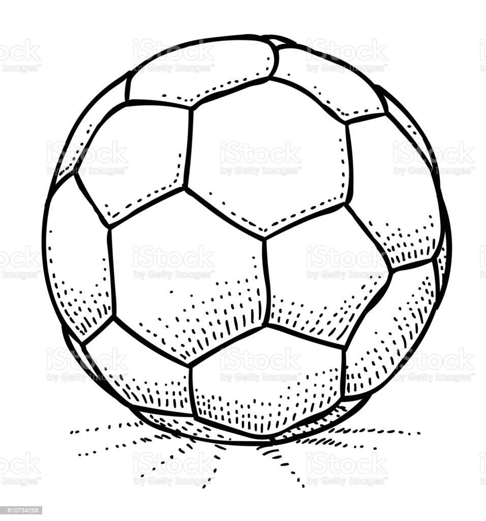 Karikatur Von Fussball Symbol Fussballsymbol Stock Vektor Art
