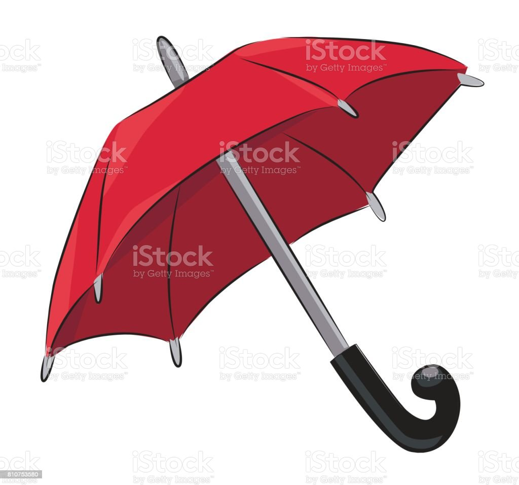 cartoon image of umbrella icon shelter symbol stock vector art