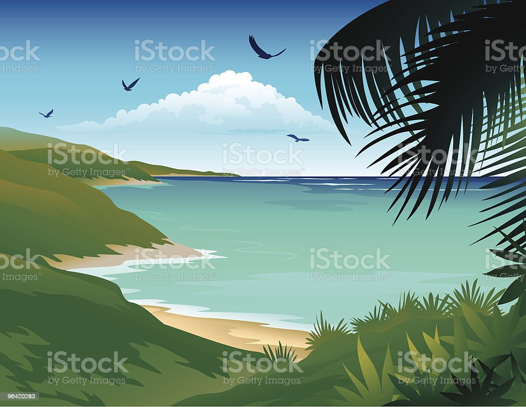 Cartoon Image of Wild Island vector art illustration