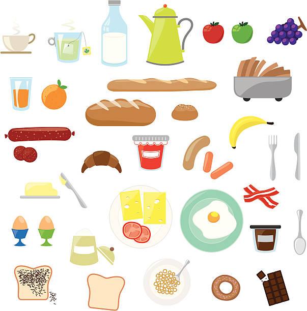 朝食セット - 朝食点のイラスト素材/クリップアート素材/マンガ素材/アイコン素材