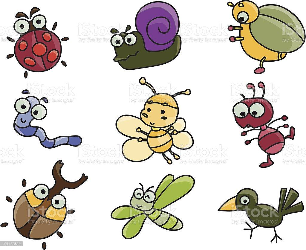 cartoon images of spring creatures stock vector art 96422324 istock