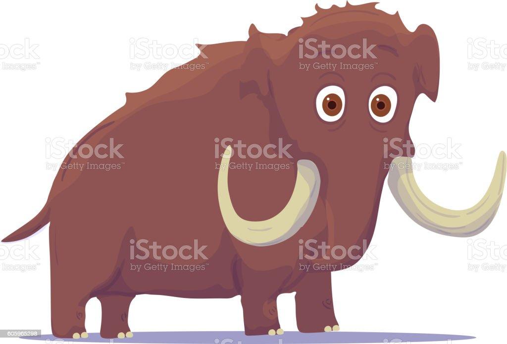 Cartoon Indian Elephant isolated on white background. Vector vector art illustration