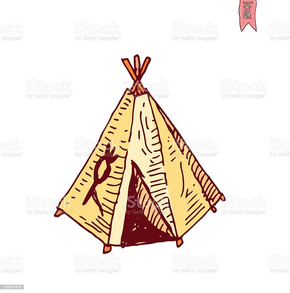 cartoon indian tent vector illustration. royalty-free cartoon indian tent vector illustration stock vector  sc 1 st  iStock & Cartoon Indian Tent Vector Illustration Stock Vector Art u0026 More ...