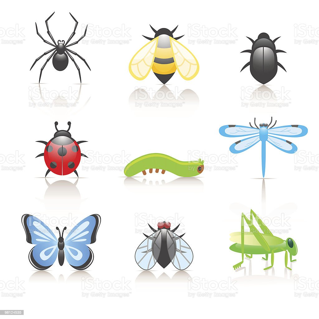 Cartoon insect icon set royalty-free cartoon insect icon set stock vector art & more images of animal