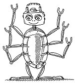 Cartoon Insect Robot Drawing