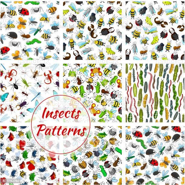 Cartoon insects and bugs seamless pattern vector id827280262?b=1&k=6&m=827280262&s=612x612&h=mjw52cfuyjjqjwzovkib0wts89 0jxlbvxdvjh hf1c=
