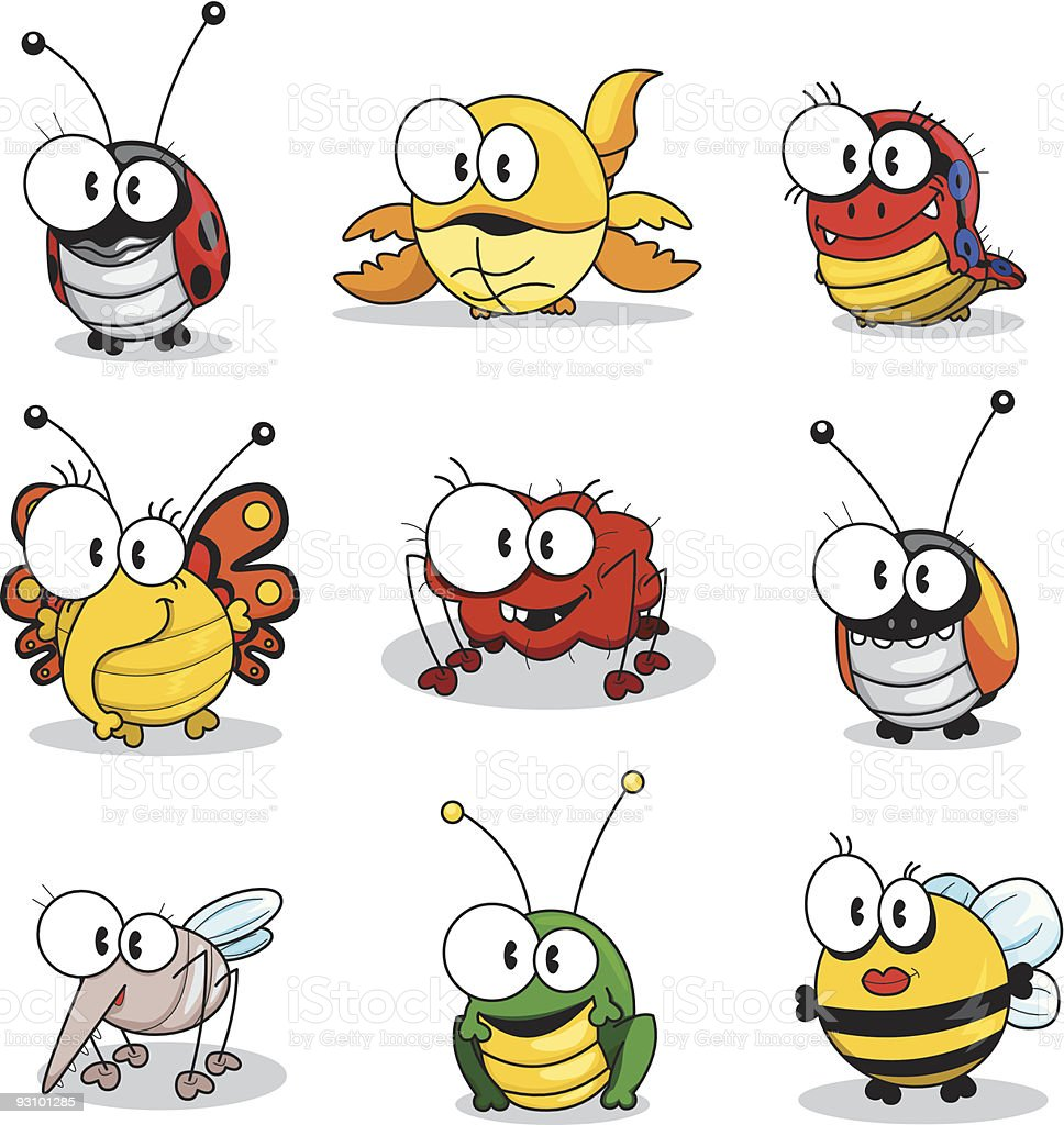 Cartoon insects stock vector art more images of animal