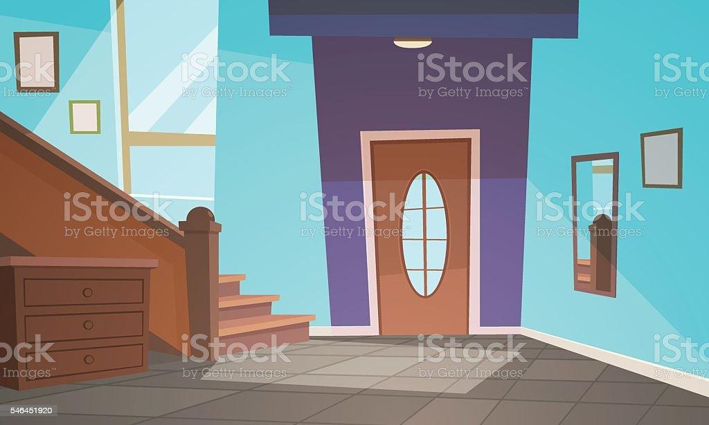Cartoon Interior vector art illustration