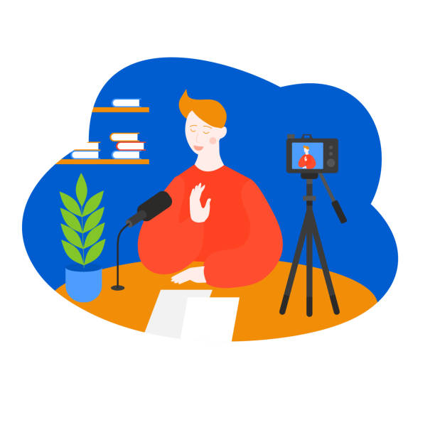 147 Filming Yourself With Video Camera Illustrations & Clip Art - iStock
