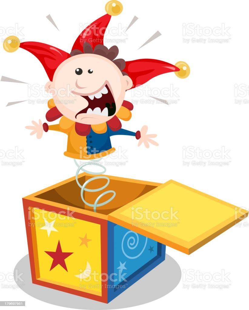 Cartoon Jack In The Box vector art illustration