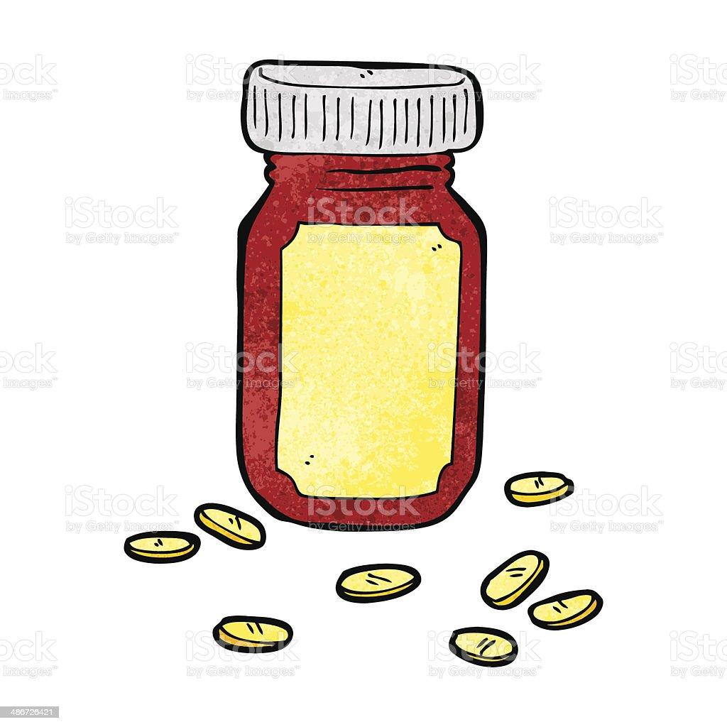 cartoon jar of pills royalty-free stock vector art