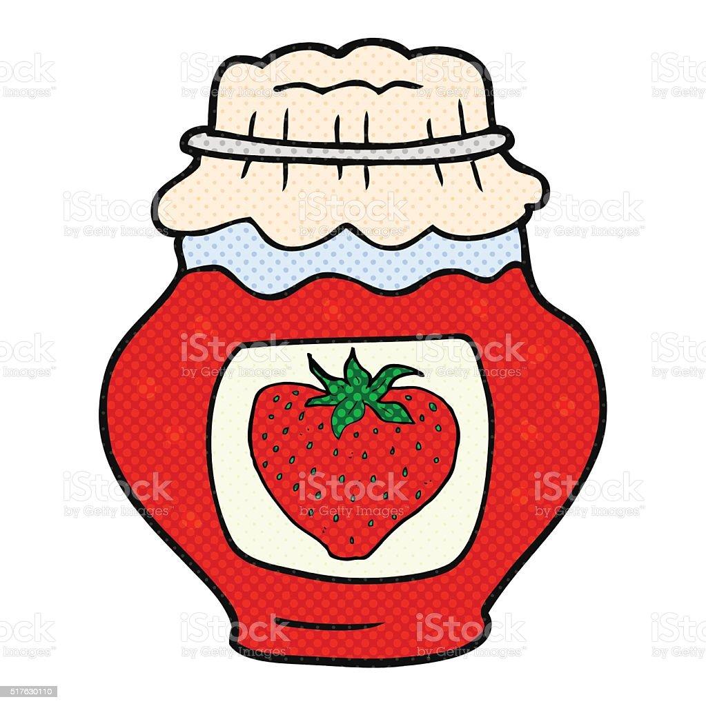 comic glas der erdbeere marmelade stock vektor art und mehr bilder von gekritzel zeichnung. Black Bedroom Furniture Sets. Home Design Ideas
